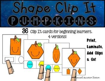PUMPKINS Shape Clip It {A Beginning Work Task)