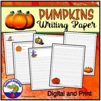 PUMPKINS Writing Paper - Lined Paper - Pumpkins Theme