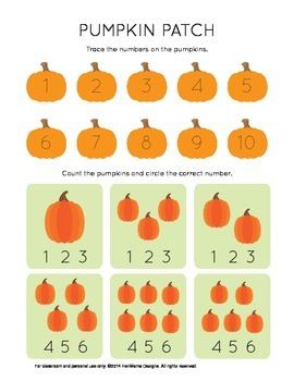 PUMPKINS for Preschool/Kindergarten Skills