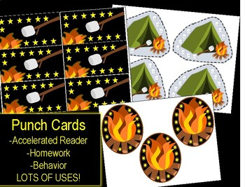 PUNCH CARDS ~ Camping Theme