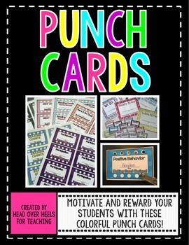 PUNCH CARDS {Motivate & Reward Your Students}