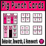 PUNCH CARDS for CLASSROOM MANAGEMENT PIG THEME SET