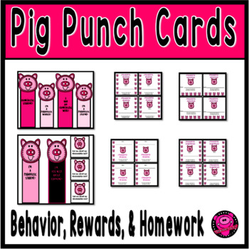 PIG CLASSROOM PUNCH CARDS for CHARACTER EDUCATION IN THE C