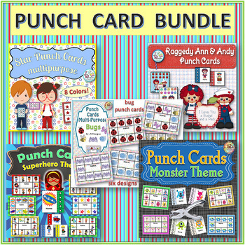 PUNCH CARDS - Variety Bundle - Behavior Management Tool