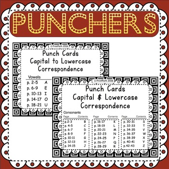Letter Identification: Hole Punch Task Cards - 3 Activities