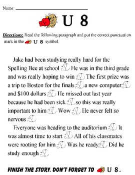 PUNCTUATE!   (Visual prompts for reinforcement)  Grade 2