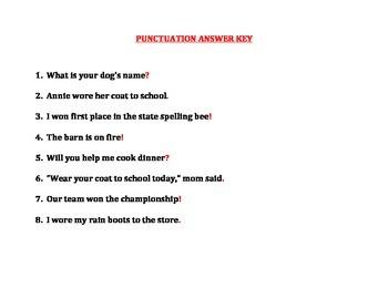PUNCTUATION (GRADES 2 - 4)