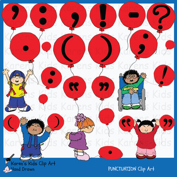 Clip Art PUNCTUATION MARKS Images  (Karen's Kids Clip Art)