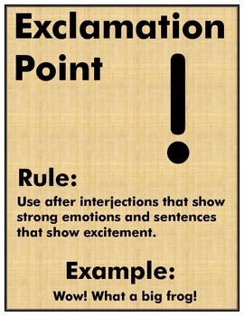 PUNCTUATION FLASH CARDS