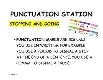 PUNCTUATION STATION!!