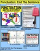 """PUNCTUATION Task Cards QUESTION or STATEMENT for Autism """"Task Box Filler"""""""