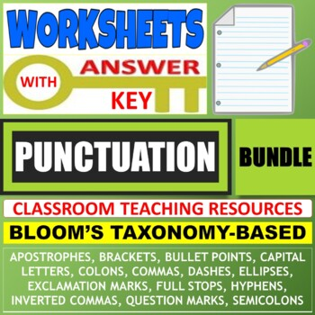 PUNCTUATION WORKSHEETS WITH ANSWERS BUNDLE