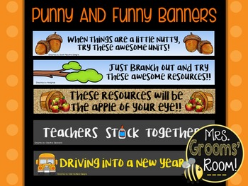 PUNNY AND FUNNY TPT BANNERS