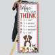 PUPPIES & DOGS - Classroom Decor: LARGE BANNER, Before You Speak THINK