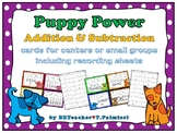 PUPPY POWER - Addition and Subtraction center with picture
