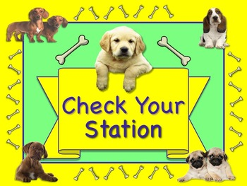 PUPPY Themed Station/Center Signs Great Classroom Management!