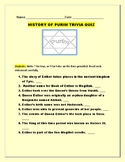 PURIM: A HISTORY TRIVIA QUIZ: HOW MANY CAN YOU GET RIGHT?