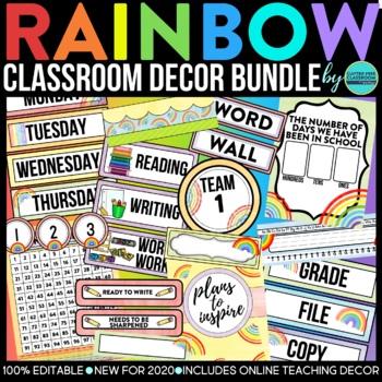 PURPLE AND BLACK Classroom Decor EDITABLE