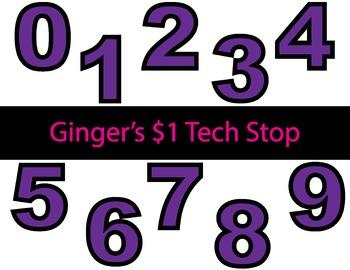 PURPLE! * Bulletin Board Letters * Numbers * 0123456789