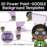 PURPLE Editable PowerPoint & Google Slides Templates - Personal & Commercial Use