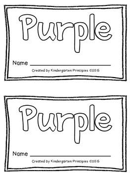 PURPLE: Emergent Reader (Common Core Aligned)