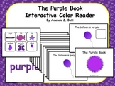 PURPLE Interactive Color Sight Word Reader; Kindergarten; Autism;