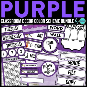 PURPLE Classroom Theme EDITABLE