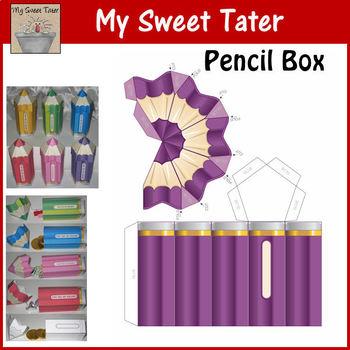 PURPLE Pencil Box Printable