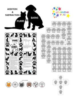 PURRS & BARKS Addition & Subtraction