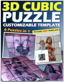 PUZZLE: 3D Cubic Puzzle (6 puzzles in 1)