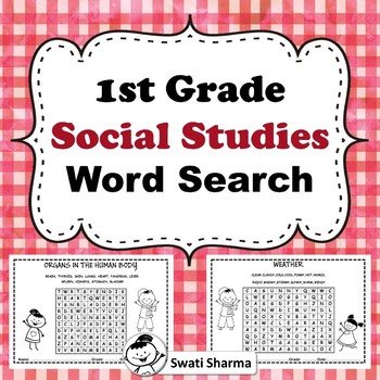 First Grade Social Studies Word search Worksheets