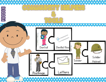 PUZZLE - COMMUNITY HELPERS & TOOLS