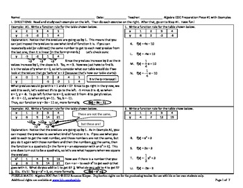 PUZZLE MATH: Algebra EOC Practices with Examples and More - Florida