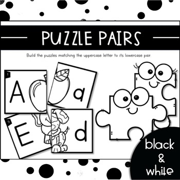 PUZZLE PAIRS {Activity to Teach Uppercase Lowercase Matching & Letter Sounds}