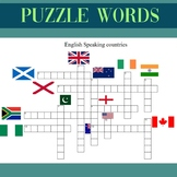 PUZZLE WORDS - ENGLISH SPEAKING COUNTRIES