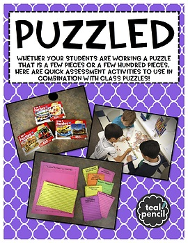 PUZZLED: Assessment Activities to Use with Class Puzzles