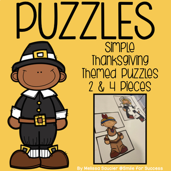 PUZZLES (2 & 4 Pieces) | Thanksgiving Themed