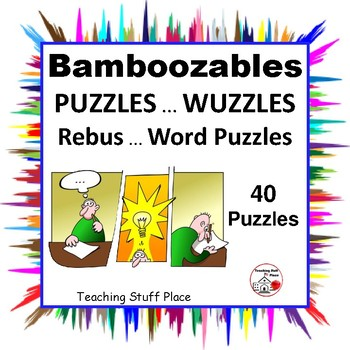 picture about Printable Wuzzles With Answers called PUZZLES ⭐ Bamboozables WUZZLES Rebus ⭐ Term