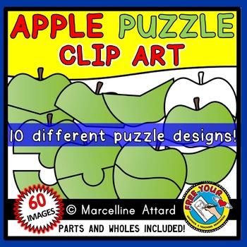 APPLES CLIPART: APPLE PUZZLES CLIPART: APPLE THEME CLIPART: PUZZLE TEMPLATES