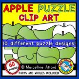 APPLE PUZZLES CLIPART TEMPLATES