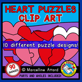 VALENTINES DAY CLIPART (HEART PUZZLE TEMPLATES)