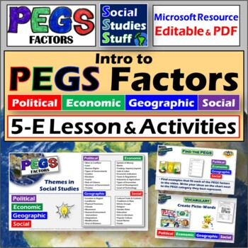 What are PEGS factors?-Sorting Activity (Political,Economic,Geographic,Social)