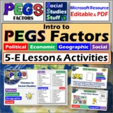 What are the PEGS Factors? - ~ Intro Lesson, Activity & Student Worksheet ~