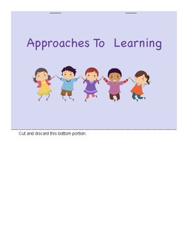 "PYP Approaches to Learning ""I Can"" Flip Book"
