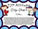 PYP Attitudes Clip Chart - Purple/Blue With Clip Art I Can Statements