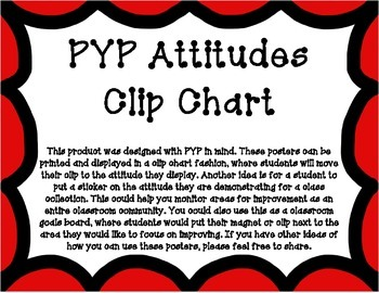 PYP Attitudes Clip Chart - Red