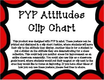 PYP Attitudes Clip Chart - Red