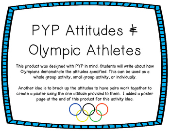PYP Attitudes & Olympic Athletes