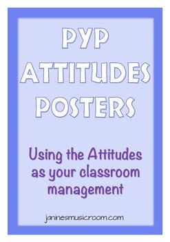 PYP Attitudes Posters - Attitudes as Classroom Management