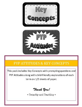 PYP Attitudes and Key Concepts